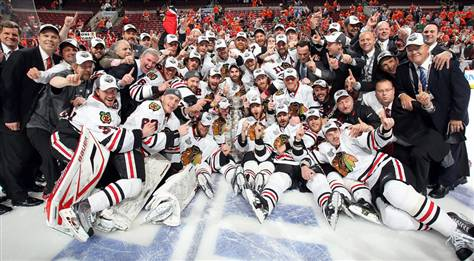 The Chicago Blackhawks are Stanley Cup champions for the second time in four years.